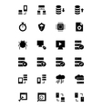 Database and Server Icons 4 vector image vector image