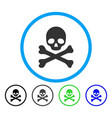 death rounded icon vector image vector image