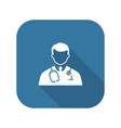 doctor icon flat design vector image vector image