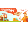Fast Delivery of Pizza Design Concept vector image