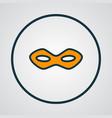 festive mask icon colored line symbol premium vector image
