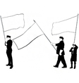 flag bearer silhouettes vector image vector image
