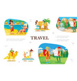 flat summer travel concept vector image vector image
