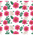 floral decoration pattern background vector image