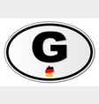 g plate vector image vector image