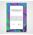 Graphic design template document with hand drawn vector image vector image