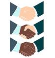 Handshake Flat style vector image vector image
