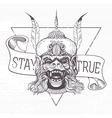 Hanuman Grunge print vector image vector image