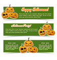 happy halloween abstract horizontal banners vector image vector image