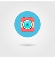 hipster photo camera icon in the circle with vector image vector image