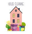 house cleaning poster template for house cleaning vector image vector image