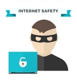 Internet security data privacy vector image