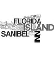 island inn sanibel florida text background word vector image vector image