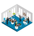 isometric stress at work concept vector image vector image