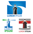 lighthouse symbol set vector image vector image
