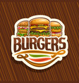logo for burgers vector image vector image