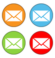 Mail button set vector image