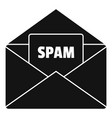 mail spam icon simple style vector image