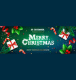 merry christmas banner xmas party with gifts box vector image vector image