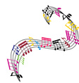 Music notes background stylish musical theme vector image vector image