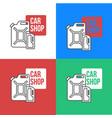 online car oil shop icon vector image vector image