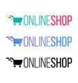 online shop color lettering vector image