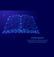 open book of polygonal futuristic mosaic lines vector image