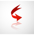 Red 3d Arrow vector image
