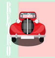 red classic car poster vector image vector image
