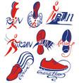 running marathon symbols vector image