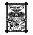 samurai tiger sakura 0007 vector image vector image