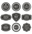 seal best quality label vector image