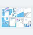 set brochure and report design templates vector image