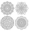 set of black and white mandala vector image vector image