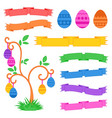 set of colored isolated sweet easter eggs and vector image