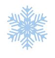 snowflake winter new year blue art symbol icon vector image