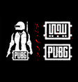 template logo arabic calligraphy pubg vector image