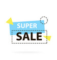 trendy modern geometric sale badge labels vector image vector image