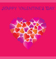 valentines day big beautiful heart made of hearts vector image vector image