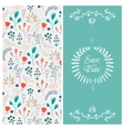 wedding invitation 2 sides Floral vector image vector image