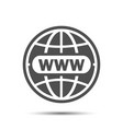 www icon website icon world globe www flat icon vector image