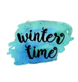 Winter time Inspirational motivational quote vector image