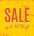 Orange autumn special sale vector image
