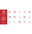15 ban icons vector image vector image