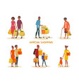 african american family at shop vector image