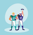 american football player men vector image vector image