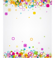 Background with geometric pattern vector image vector image