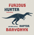 Baryonyx t-shirt design print typography label vector image vector image