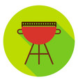 bbq grill circle icon vector image