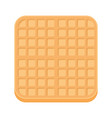 belgium square waffle in flat style vector image